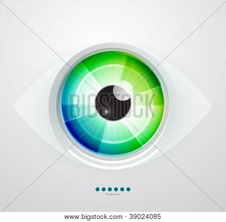 Vector color eye design. Hi-tech concept