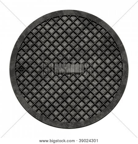 This is an illustration of a sewer cover (serie).
