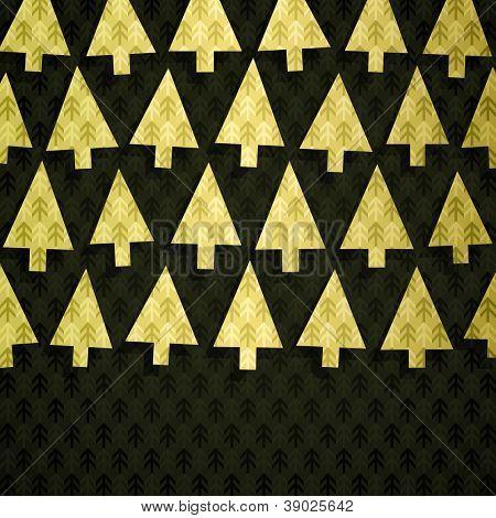Christmas tree banner made of fancy paper, vector eps8 illustration