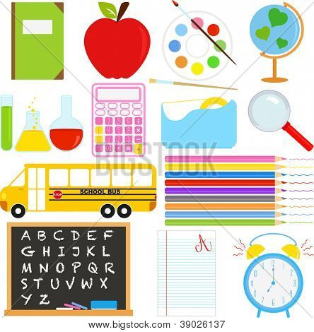 A vector collection of Back to School icons