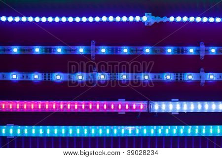 blue led light tapes