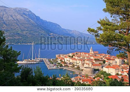 Korcula island and the city, Croatia