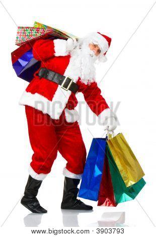 Compras de Navidad Santa