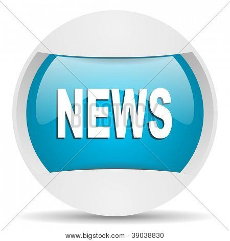 news round blue web icon on white background