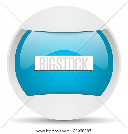 minus round blue web icon on white background