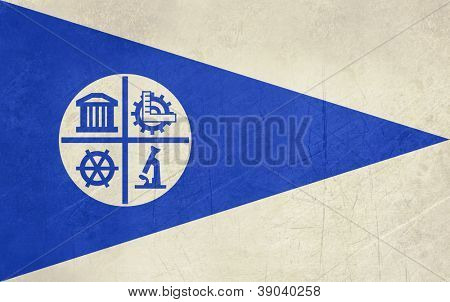 Grunge Minneapolis city flag, state of Louisiana, U.S.A.