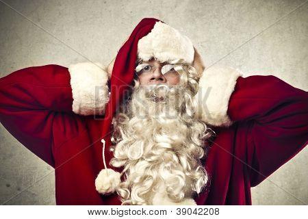 Stressed Santa Claus