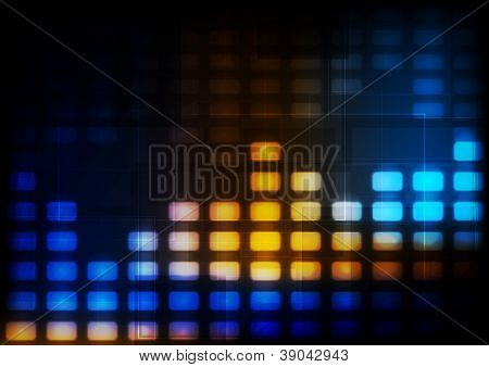 Colourful glowing tech background. Vector design eps 10. Gradient mesh included