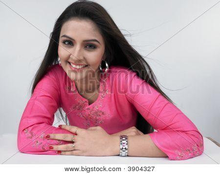 Asian Woman With Beautiful Long Hair
