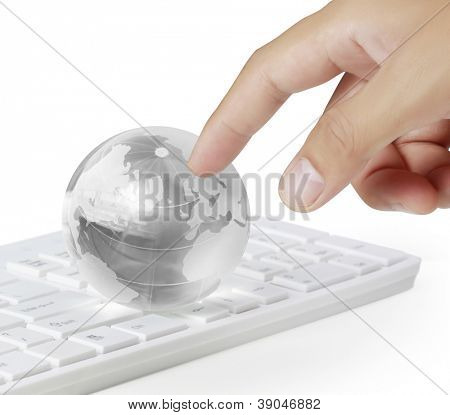Fingers to global on keyboard