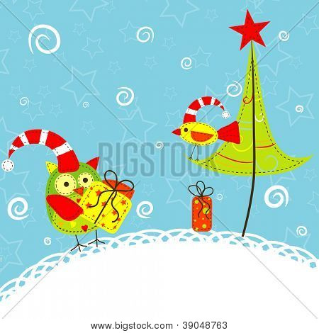 Template christmas greeting card