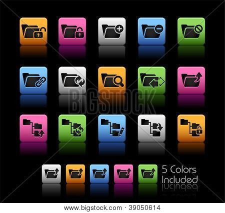 Folder Icons - 1 of 2 // Color Box------It includes 5 color versions for each icon in different layers ------