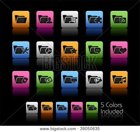 Folder Icons - 2 of 2 // Color Box------It includes 5 color versions for each icon in different layers ------