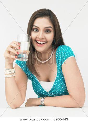 Woman Driking Water