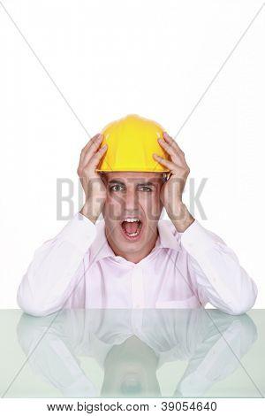 Engineer screaming in anger