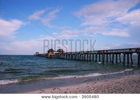 Fishing Pier At Naples Beach, Florida