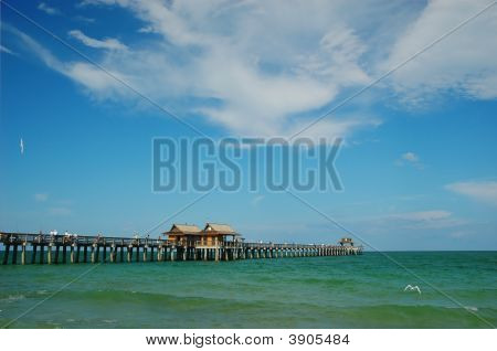 Fishing Pier At Naples Beach, Florida