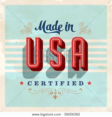 Made in USA label - JPG Version