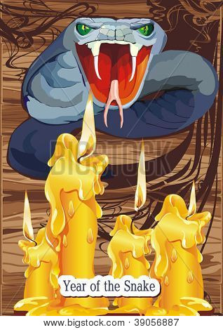 Vector illustration of Agressive cobra