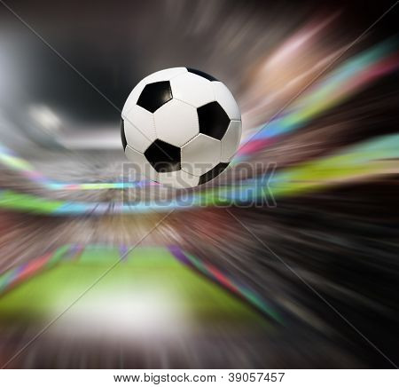 Soccer ball in stadium