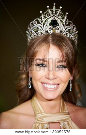 MOSCOW - NOV 30: Daria Konovalova from Yaroslavl - Russian beauty - 2010 contest winner, Nov 30, 2011, Moscow, Russia. D.Konovalova is in judiciary board of competition Russian beauty - 2011.