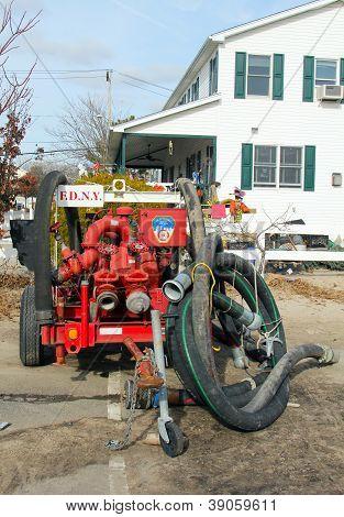Fire department water pump