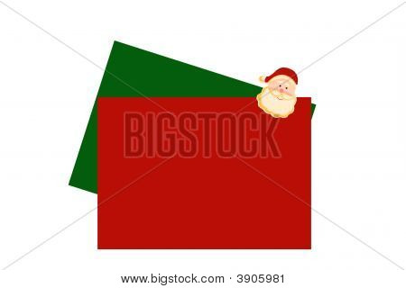 Weihnachten Buchstaben mit santa