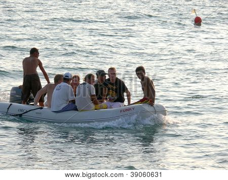 Alanya, Turkey - September 03, 2008: People Are Swim In Mediterranean Sea On September 03, 2008 In A
