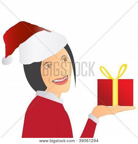 Navidad Santa niña