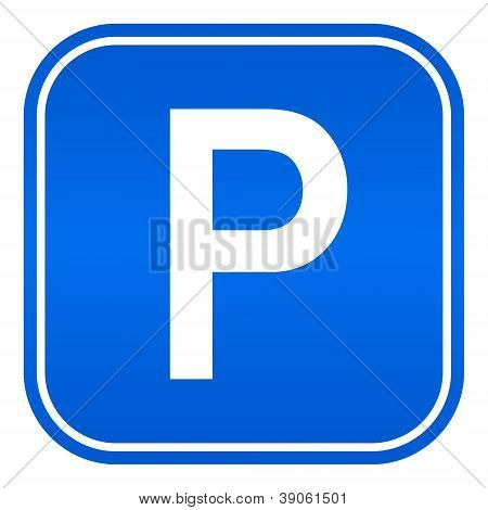 Vector cars parking sign