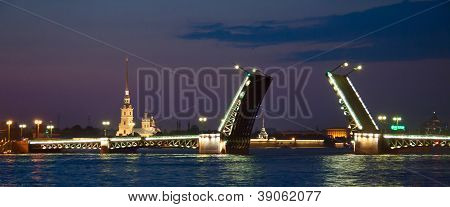 Drawbridge in Saint - Petersburg