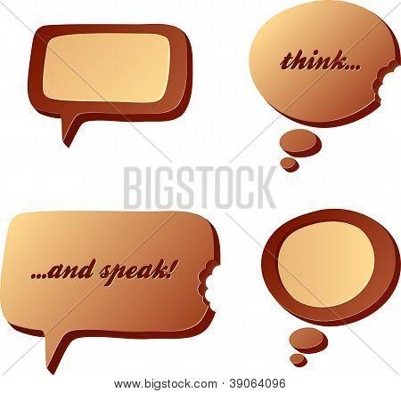 Chocolate speech and idea bubbles