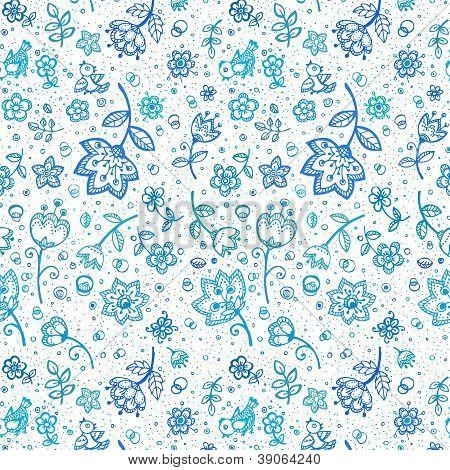 Hand-drawing flower pattern