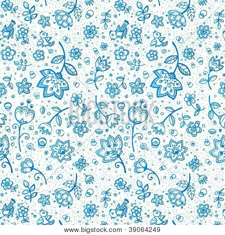 Hand-drawing flower pattern