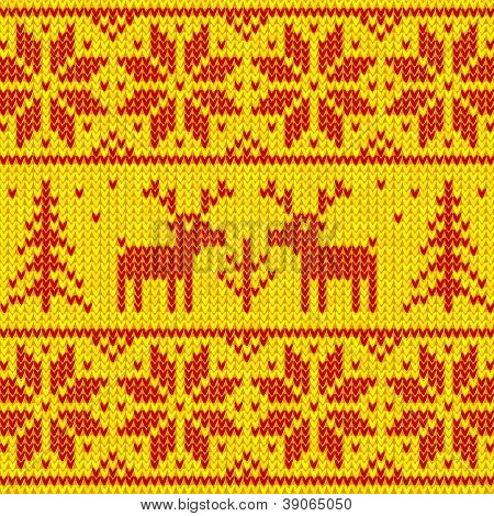 Orange sweater with deer vector ornament