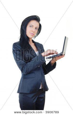 Empresária com Laptop