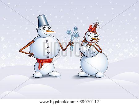 Snowmen, Christmas Card
