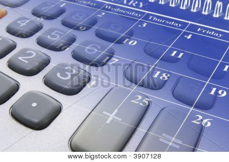 Calendario y calculadora teclas