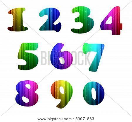 0-9 Colorful Computer Alphabet