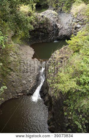 Lava Lakes On Tropical Island