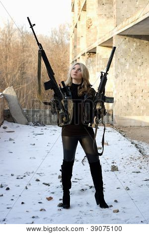 Armed Strong Beautiful Girl