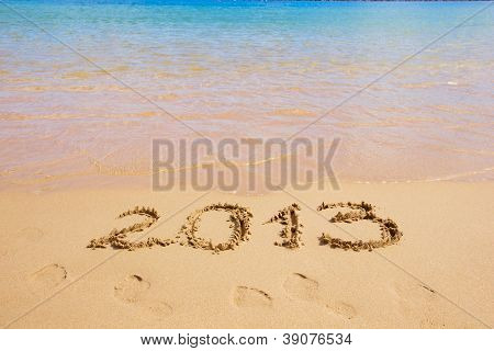 2013 new year on the beach