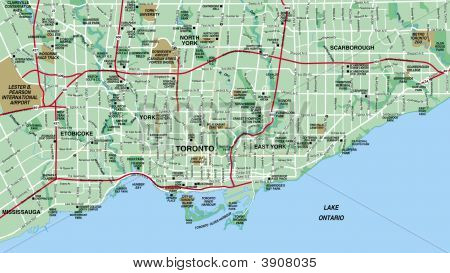 Tornoto, Ontario, Canada Map