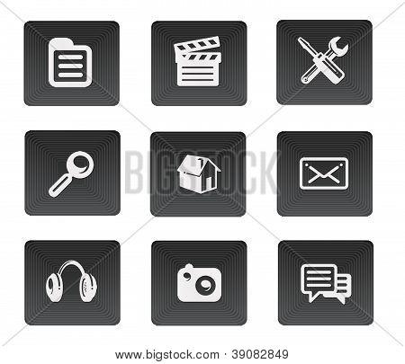 Stylish dark web buttons