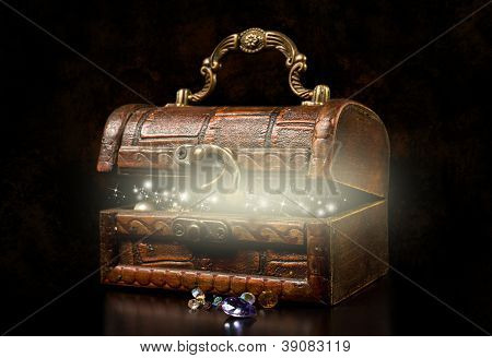 old wooden treasure chest