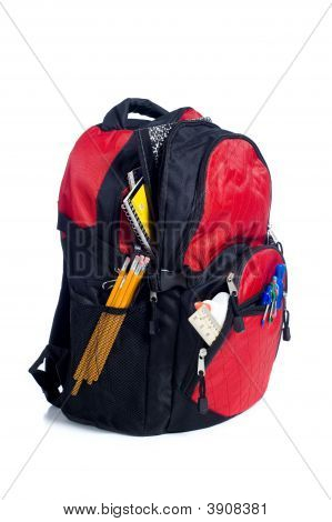 Red School Back Pack
