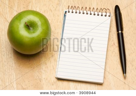 Pen, Paper And Apple