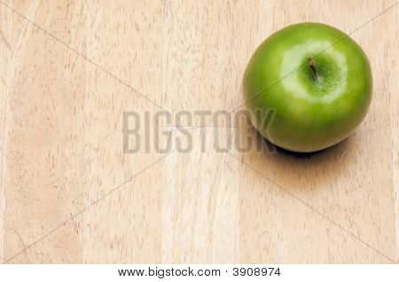 Apple Overhead On Wood