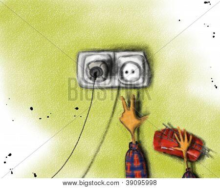Jongen en socket
