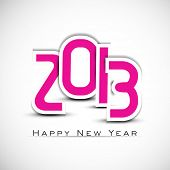 Stylized 2013 Happy New Year background. EPS 10